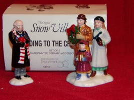 """DEPT 56 THE ORIGINAL SNOW VILLAGE """"GOING TO THE CHAPEL"""" #54763-NEW IN BOX - $12.87"""