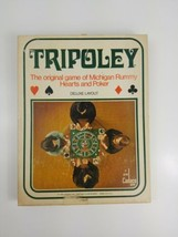 Vintage 1969 Thick Vinyl Tripoley Game Mat, Chips & Original Box See Description - $28.04