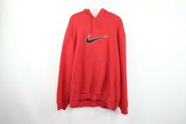 Vintage Nike Mens Large Big Swoosh Logo Pullover Hoodie Hooded Sweatshir... - $34.60