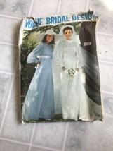 VTG Vogue Original Pattern #2058 1968 Wedding Dress,Bridesmaid Sz 10 - $16.82