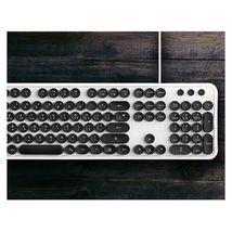 Actto KBD47 USB Wired Retro Korean English Keyboard (White) image 4