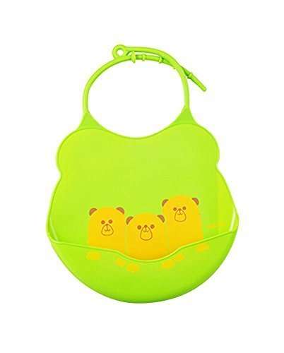 Cartoon Water-Repellent Comfortable Baby Bib/Pinafore for Baby,Green