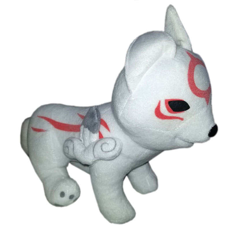 "Capcom Okamiden Wolf Okami Den Chibiterasu Plush 12"" Stuffed Animal Dog"