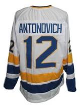 Custom Name # Minnesota Fighting Saints Hockey Jersey Antonovich White Any Size image 2