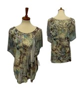 Style &Co. woman top animal path multicolor short sleeve size 1X - $19.48