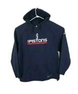 Adidas NBA Fusion Detroit Pistons Basketball Hoodie Sweatshirt XXL Mens Vintage  - $37.05
