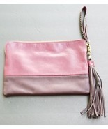 The Limited Large Wristlet Clutch Handbag Color Block Make-up Zip Top Case - £28.33 GBP