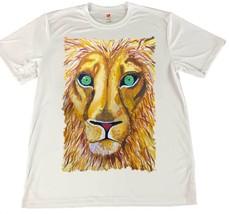 African Lion Head Wicking T-Shirt w American Flag Car Coaster - $14.80+