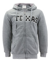 Men's Texas Embroidered Sherpa Lined Warm Zip Up Fleece Hoodie Sweater Jacket image 8