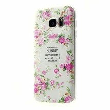 Embossing Pattern Printing TPU Cover for Samsung Galaxy S7 edge G935 - Elegant P - $1.99