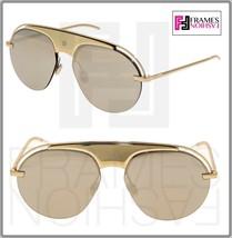 Christian Dior Revolution 2 Gold Mirrored Metal Aviator Sunglasses Evolution2 - $332.64
