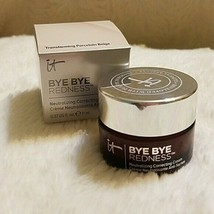 It Cosmetics Bye Bye Redness Neutralizing Correcting Cream .37oz/11ml New In Box - $25.73+
