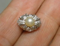MEN'S Tie Tack Pin in 12K Gold Filled and 5 mm Pearl - FREE SHIPPING