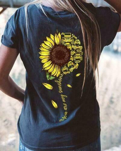 Sunflower Jeep You Are My Sunshine Men T-Shirt Black ...