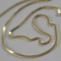 18K YELLOW GOLD CHAIN NECKLACE 0.5 mm MINI VENETIAN MESH 15.75 IN, MADE IN ITALY image 2