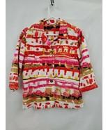 Choices Button Front 3/4 Sleeve Cotton Top/Jacket Sz Sm EUC 0829 - $15.45