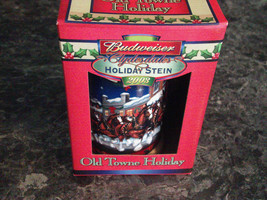 2002 Budweiser Old Town Holiday Clydesdales Holiday Stein Mug with Box - $8.99