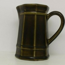 VTG Discontinued Pfaltzgraff Heritage Pattern Olive Green Cream Pitcher 24H - $10.02