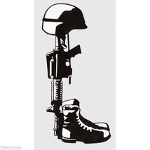 "FALLEN HERO SOLDIER LEST WE FORGET MILITARY 6"" WINDOW STICKER DECAL - $18.04"