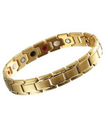 Stainless Steel 316L Magnetic Therapy Bracelet Energy Balance Men Bracel... - $39.72