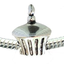 Birthday Cupcake European Bead Pandora Style Chamilia Troll Biagi - $4.83