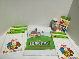 Vintage Sesame Street Birthday Goody Bags, Drop cloth/table cover, Cups ... - $23.38