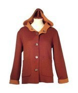 Hooded Jacket,pure Alpaca wool, elegant Outerwear - €269,20 EUR