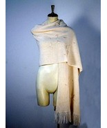 Embroidered shawl,wrap made of Alpaca wool,cape - $138.00