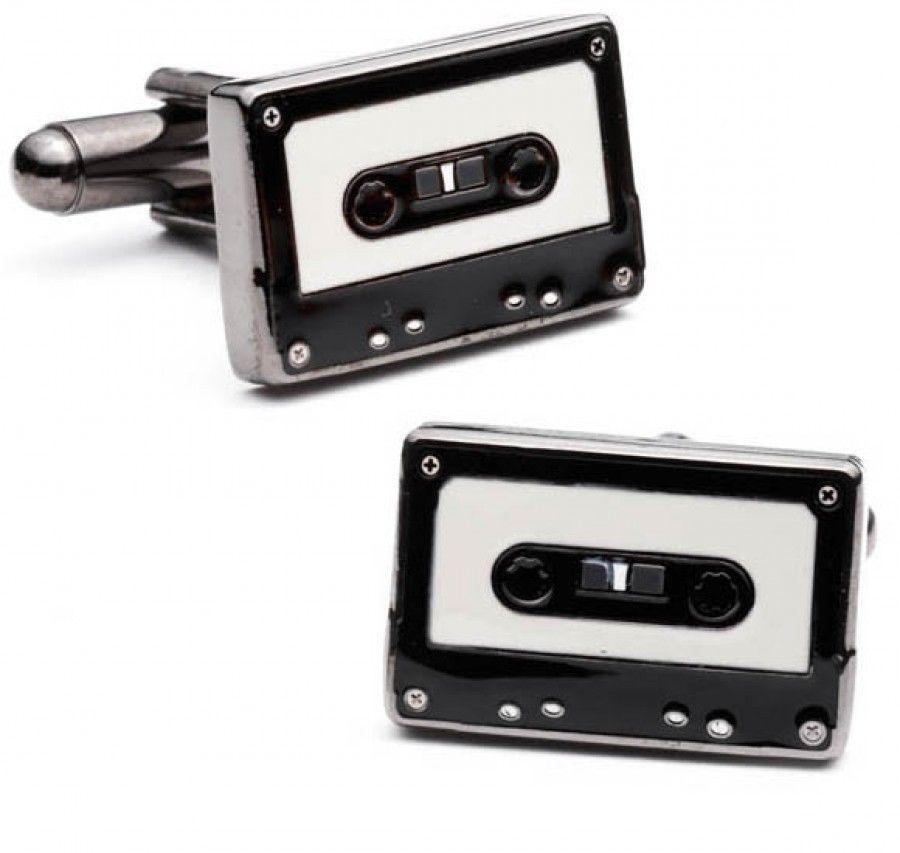 Mix Tape Cufflinks Cuff Links Old School Music Boom Box Band Recording Vintage