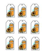 Orange Candle Tags-Digital Download-ClipArt-Art... - $3.00