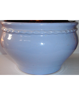 Blue Painted Clay Planter from Gardener's Eden - $8.00
