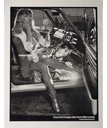 VIINTAGE 2-SIDED PINUP GIRL POSTER  SEXY HOT PINUP ART RUBBER BOOT PHOTO... - $8.90