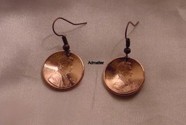 1972 Penny Earring Set Domed Pennies Coin Jewelry 43rd Birthday Anniversary Gift - $9.89