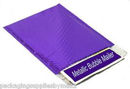 """16"""" x 17.5"""" Purple Metallic Glamour Bubble Mailers Envelopes Bag 400 Pieces - $556.73"""