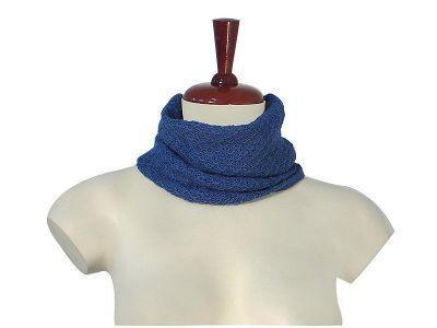 Primary image for Blue neck scarf,neckerchief made of Babyalpaca wool