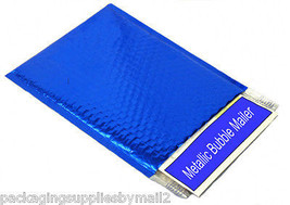 """9"""" x 11.5"""" Blue Metallic Bubble Mailers Padded Envelope Bags 400 Pieces - $246.36"""