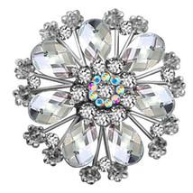 P ugster Vintage White Tear Drop Stone Crystal Rhinestone Open Floral Fl... - $31.99