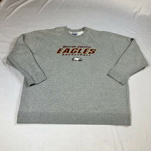 Boston College Eagles Basketball Reebok Crewneck Sweatshirt Gray NCAA Si... - $49.99