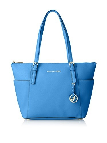 Primary image for Michael Kors Jet Set Saffiano Leather East West Top Zip Tote - Heritage Blue