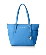 Michael Kors Jet Set Saffiano Leather East West Top Zip Tote - Heritage Blue - $265.32