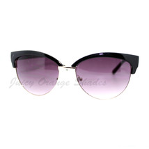 Womens Stylish Fashion Sunglasses Bolded Top Round Cateye - $7.15