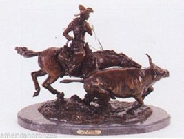 Bolter by C. M. Russell Solid Bronze Collectible Sculpture Statue Regula... - $1,200.00