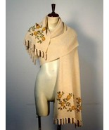 Embroidered cape, huge shawl,wrap with Alpaca wool - $225.00