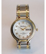 Medana Mens Quartz Dress Sport Watch With Two Tone Trim  Metal Expansion... - $45.00