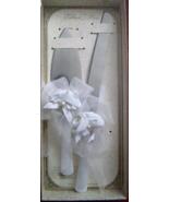 LILLIAN&ROSE SATIN ROSE KNIFE/SERVER SET WHITE - $20.00