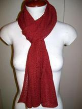 Red crocheted scarf,shawl made of Babyalpaca wool - $87.00