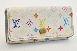 Louis Vuitton Multicolore Multicles 4 Chiavi Case Bianco N60043 IV Originale - $84.75