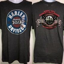 New Harley Davidson Gray T-Shirt Premium Oil & Parts Steel City PA Men's... - $26.99