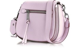 Marc Jacobs $375 Small Recruit Nomad Pale Lilac Leather Saddle Crossbody... - $205.70