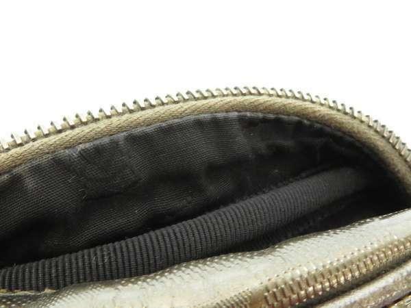 GUCCI Shoulder Bag PVC Canvas Leather Imprime Gold Italy 233268 Authentic